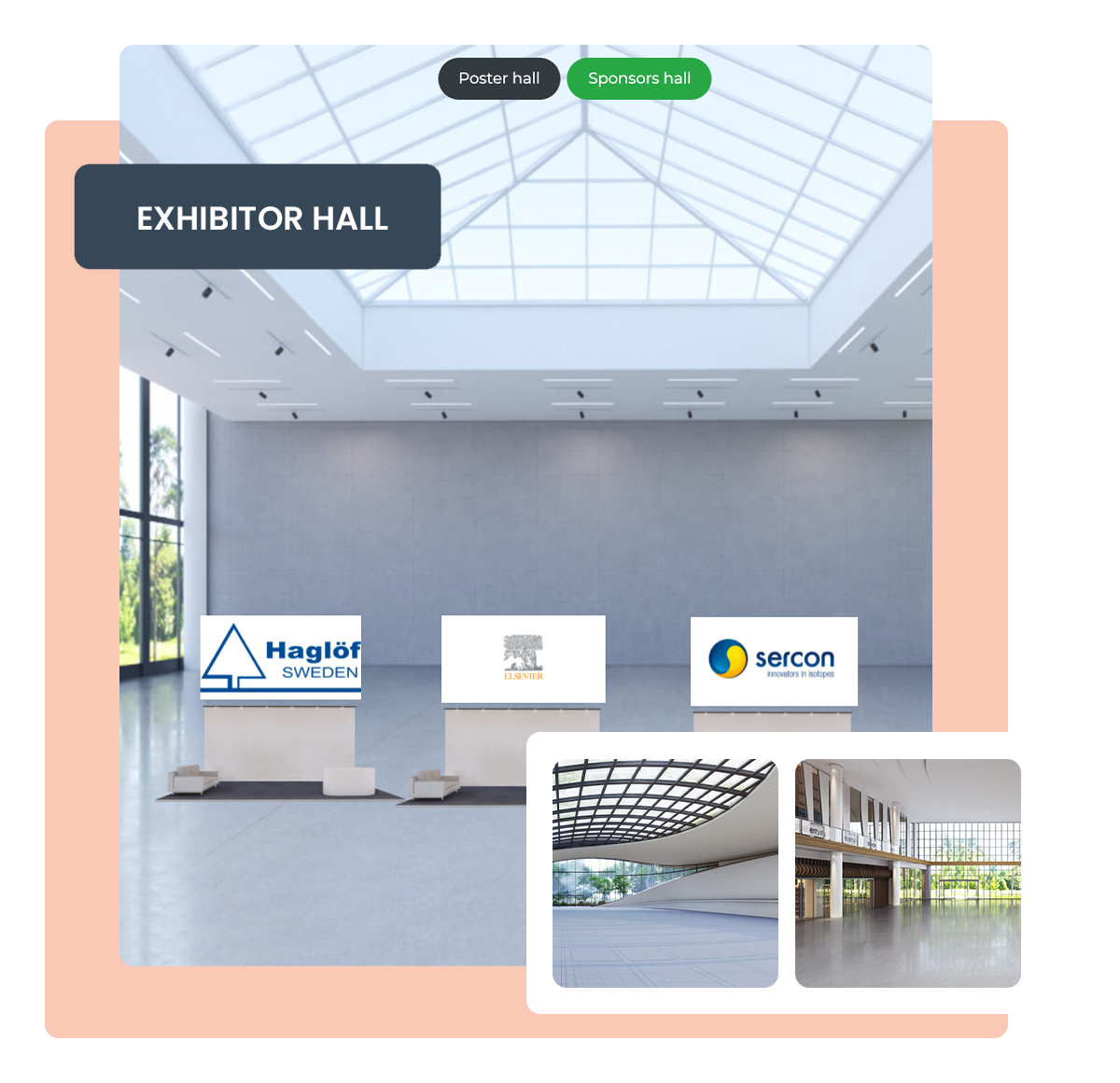 exhibitor hall at virtual events